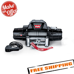 Warn 88980 Zeon 8 Electric 12v Winch With 100' Steel Wire Rope, 8000 Lbs.