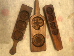 Antique Chinese Hand Carved Rice Pastry Candy Wooden Molds 3