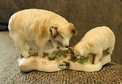 Ucagco Sheep Lamb Vintage Figurine Bone China Japan