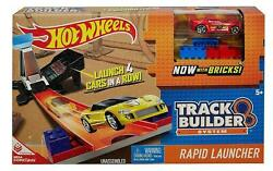 New- Hot Wheels Track Builder System Rapid Launcher Play-set And Car Official