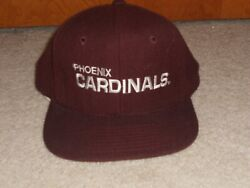 Vintage Phoenix Cardinals Football Hat Cap Embroidered Spell Out Snapback  Ajd