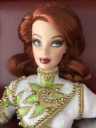 Bob Mackie Radiant Redhead Barbie Doll With Stand And Sketch In Mattel Shipper Box