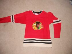 Chicago Blackhawks Vintage Hockey Jersey Rawlings Durene Red 1970s Youth Small