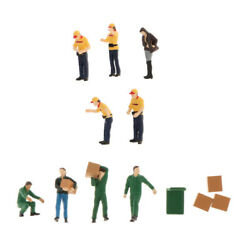 13x 164 Scale Tiny Figures Gas Station Worker Toys Building Layout Scenery