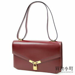 Hermes Croix Flap Shoulder Bag Cadena Design Closure Box Calf Gold Hardware $5,132.66
