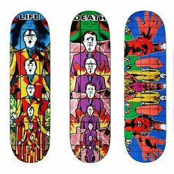 New Supreme Gilbert And George Skateboard Deck Death After Life Set Of 3 Boards Ds