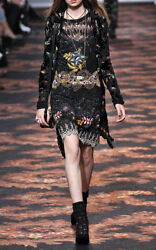 Etro Runway Nwt Ad Campaign Sequin Embellished Embroidered Dress Size It44 8000