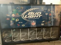 Bud Light Light Board Nfl Weekly Schedule Football Party / Super Bowl