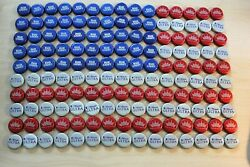 Usa American Flag Beer Bottle Caps Stars And Stripes Bud Red White Blue Free Shpg