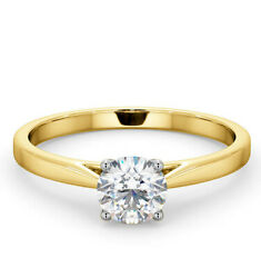 Certificated Diamond Solitaire Engagement Ring 18k Gold 0.70ct Large Sizes R - Z