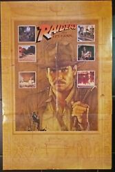 Indiana Jones, Raiders Of The Lost Ark, Rare Promotional Previous Poster 2197