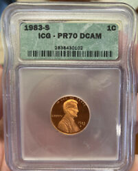 1983 S Lincoln Penny Icg Pr 70 Dcam Us Coin Lot 647