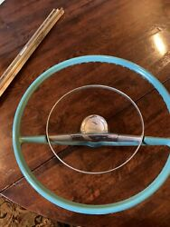 Original 1957 Chevy Turquose Sterring Wheel And Horn Ring