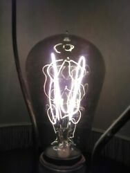 Light Bulb Socket Hairpin Carbon Filament Tipped Antique Good