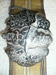 Russian Belt With 875/1000 Silver Buckle And 2 Slides For Adjustable Ribbon Belt