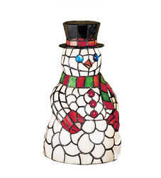 Meyda Frosty The Snowman 14 Style Stained Glass Accent Lamp