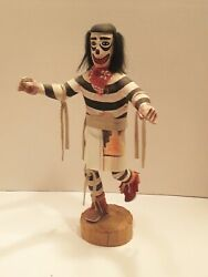 Kachina Doll Hand Clown Signed F.g. Native American Vintage / Antique 11 Tall
