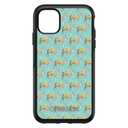 Otterbox Symmetry For Apple Iphone Pick Model Preppy Camels On Teal Background