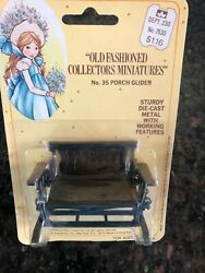 Vintage Holly Hobby Metal Miniatures 4 Each Bench Tub Vane Stove Sewing