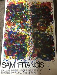 Striking Rare Large 1973 Exhibition Poster Sam Francis Albright-knox Gallery