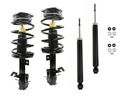 Full Set 2 Front Complete Struts W Springs + 2 Shocks Fit Nissan Sentra 1.8l