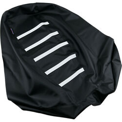 Parts Unlimited Ribbed Gripper Seat Cover - Arctic Cat Black/white Cat-100-337