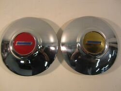 1949 1950 1951 Chevy Chevrolet Hub Caps 10 Wheel Covers Dog Dish 1950and039s Vintage