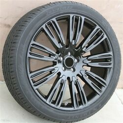 4set 22x9.5 5x108 Wheel And Tire Pkg Range Rover Freelander2 Velar Evoque Black