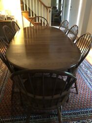 Hitchcock Dining Table And 8 Chairs