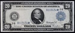 1914 20 Federal Reserve Star Note Fr.969 Burke And Glass Extremely Rare