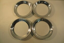 14 Beauty Rings Hubcaps 1940's 1950's Chevy Ford Buick Chrysler Mopar Accessory