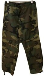 Usmc Army Woodland Green Gortex Trousers Cold Weather Pants Size Small Short