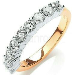 Certificated One Carat Diamond Eternity Ring 18k Yellow Gold Large Sizes R - Z