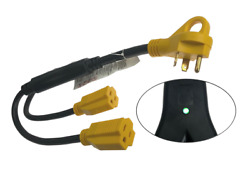 Pactrade Marine 27 Rv 30amp 1-2 Y Adapter Tt-30p Male Plug To Two 5-15r Female