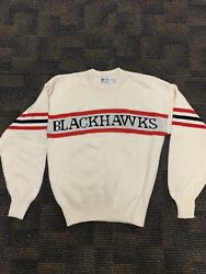 Rare And New Chicago Blackhawks Cliff Engle Sweater Size Small Nhl Vintage 1980s