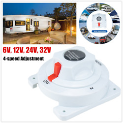 6v-36v Dual Battery Selector Switch Disconnect Power Cut Off On For Rv Ship Boat