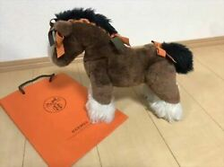 Used Hermes Hermy Baby Horse Plush Doll Brown Total Length 33cm From Japan
