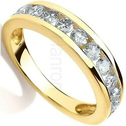Certificated Diamond Eternity Ring 0.75ctw Channel Set 18k Gold Large Size R-z
