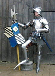 Hmb Medieval Knight Gothic Full Body Armor Suit Fully Functional Armor