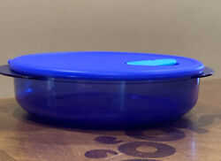 Tupperware Rock N Serve Round Container 4 Cup-in Bright Blue Color