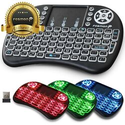 Fosmon 2.4ghz Mini Wireless Keyboard Touchpad For Ios Android Windows Xbox Ps4