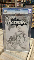 Batman 612 2nd Print Sketch Variant 2003 Cgc Graded 9.8 Hush White Pages