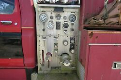 Vintage 1978 Ford F-700 Fire Engine Truck Champion Fire Pump Control Panel 2791