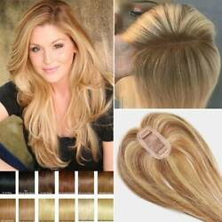 Invisible Clip In 100 Virgin Human Hair Top Hairpiece Toupee Wig Topper 6-22