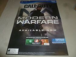 Large Ps4 Call Of Duty Modern Warfare Promo Sign 2019 Sony Activision