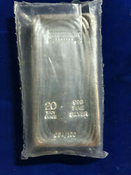 🌟yeagermeister Yps 20 Troy Oz .999 Silver Hand Poured Bar Limited Ed. 084/100