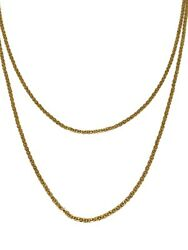 Victorian 1900and039s 10k Rose Gold Link Chain Long Necklace