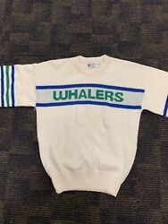 Rare Hartford Whalers Cliff Engle Sweater Small Nhl Vintage 1980s Carolina Canes