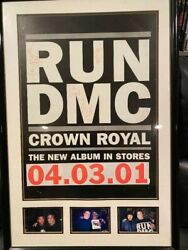 Run-dmc Rare Signed Poster By All 3 Including Jam Master Jaycrown Royal 4/4/01