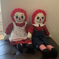 Large Raggedy Ann And Andy Doll